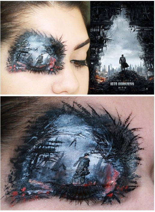 Star Trek Into Darkness Augenlid Make Up Augenlid Schminken - Augenlid Schminken