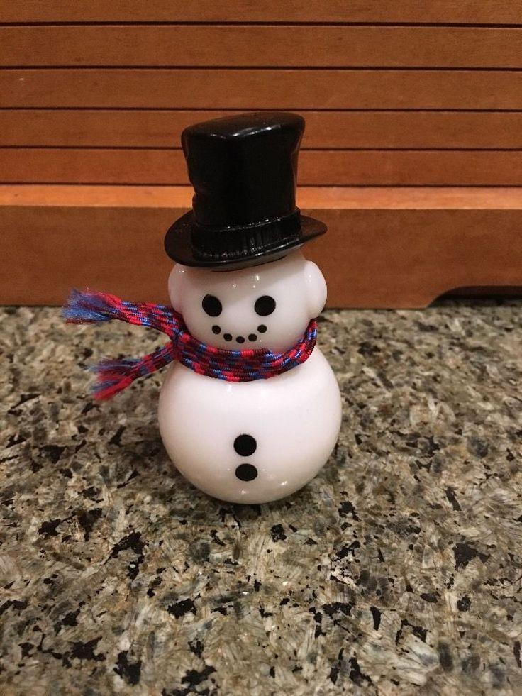 bottle vintage snowman