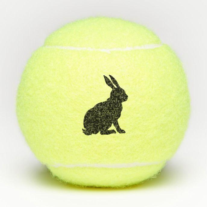Sitting Black Silhouette Bunny Rabbit Side Profile Tennis Balls Zazzle Com Black Silhouette Tennis Balls Bunny Rabbit