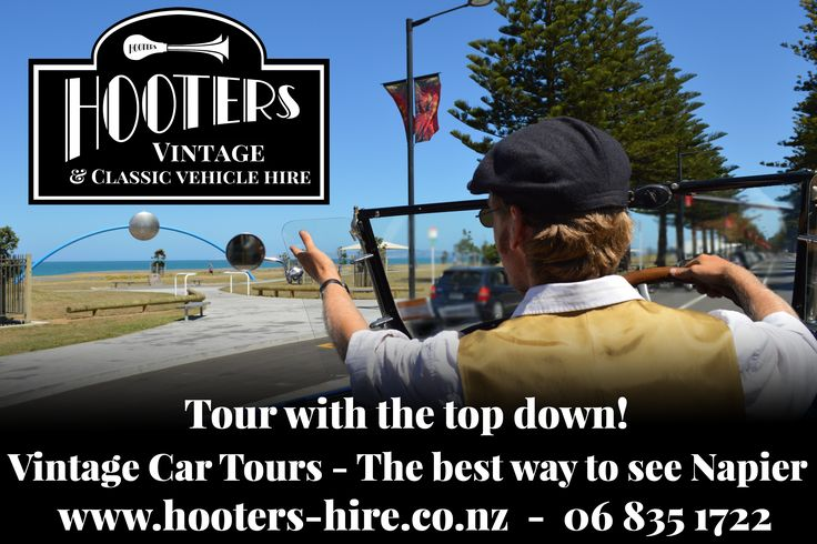 Hooters Car Hire - The best way to see Art Deco Napier