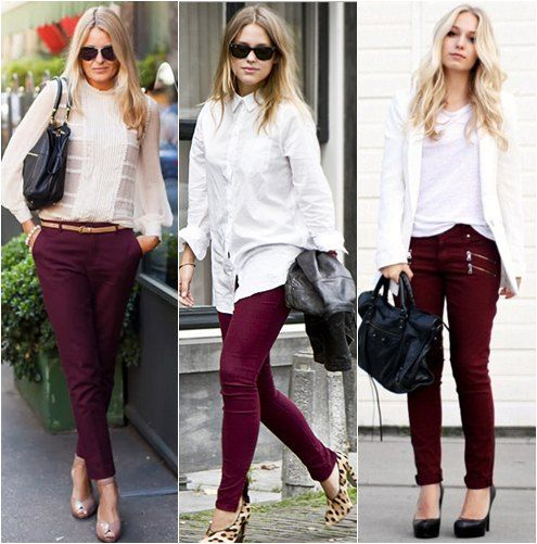Fall Must-Have: burgundy #skinnyjeans next purchase!