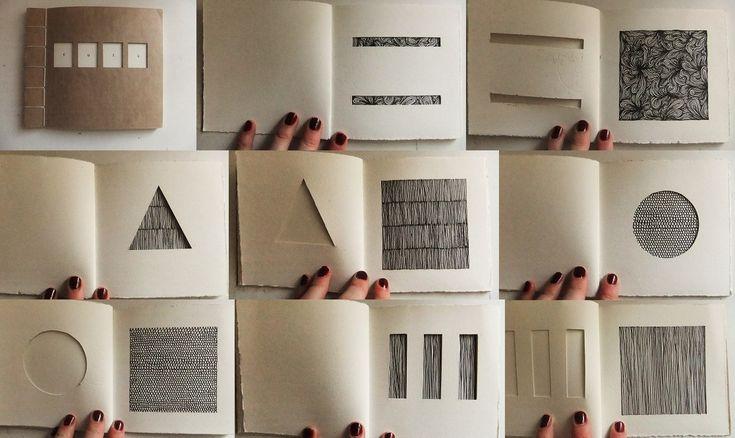 eleanorhullock: 'Cuts' (2010) Japanese stab bind book. Paper, thread, ink.
