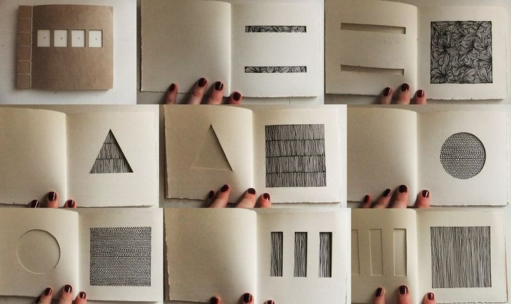 eleanorhullock:    'Cuts' (2010)  Japanese stab bind book.  Paper, thread, ink.