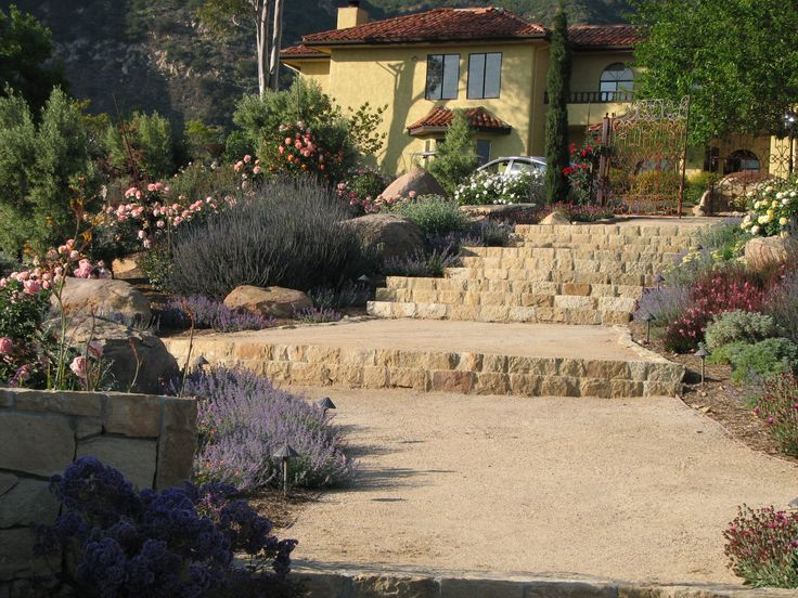 Decomposed Granite Path With Native Sandstone Steps