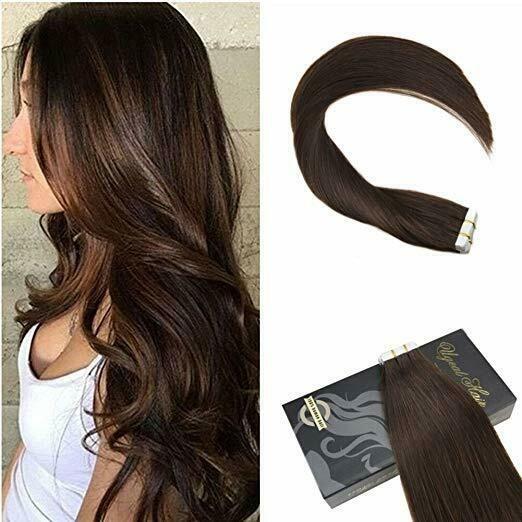 Ugest 14inch 10pcs Skin Weft Remy Human Hair Exten…
