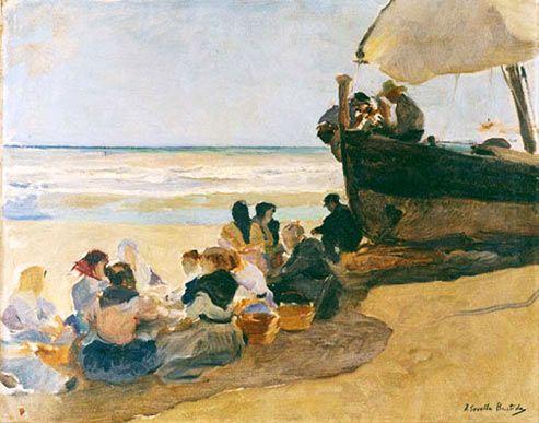 Joaquín Sorolla Bastida (1863-1923). A la sombra de la barca, Valencia. 1903-1904. Museo Sorolla, Madrid, Spain.