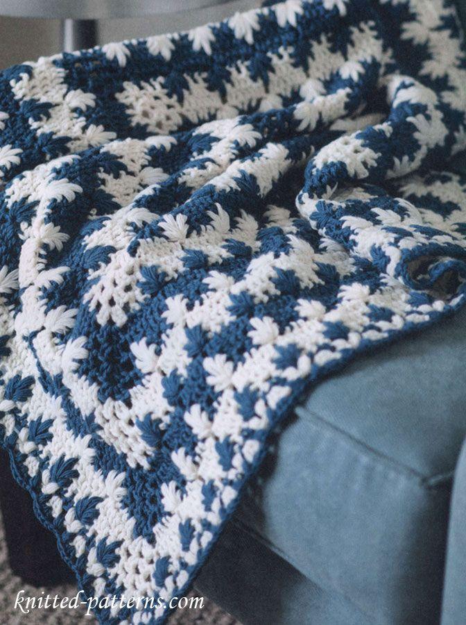 Moderno Patrón De Ondulación Crochet Manta Modelo - Manta de Tejer ...