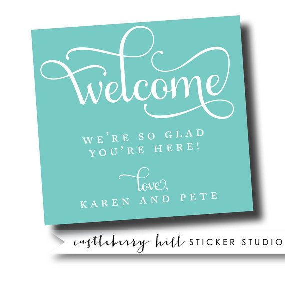 124 best Wedding Welcome Stickers images on Pinterest | Count ...