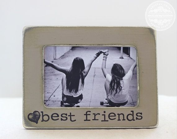 Best Friend Picture Frame GIFT Custom Rustic by CrystalCoveDS $24.95