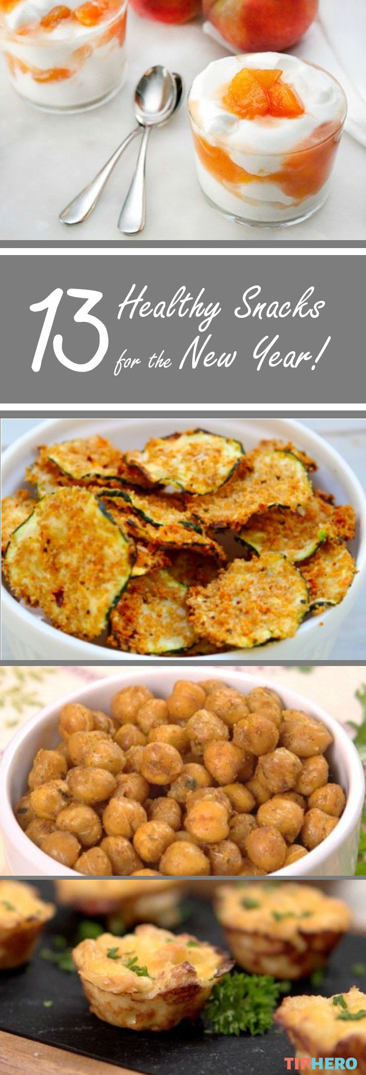 Keep Your New Year's Resolution With These 13 Healthy Snacks! Looking to get healthy this year? Here's a collection of recipes for healthy snacks that are big on flavor! Click for the recipes and get snacking!