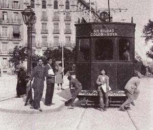 Vendedores de periódicos, Madrid, 1935