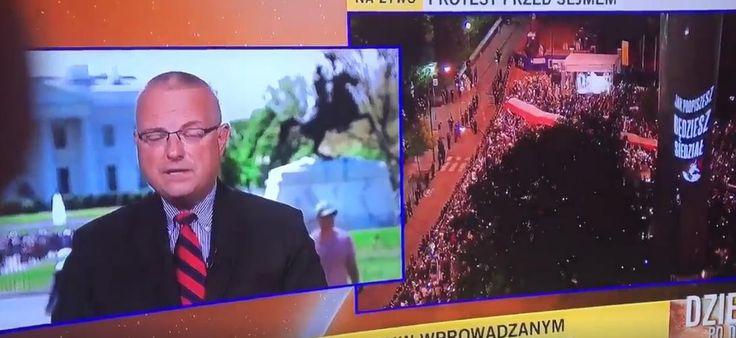 """Dziennikarz """"Faktów"""" TVN Marcin Wrona starał się uzyskać opinię rzecznika Departamentu Stanu…"""