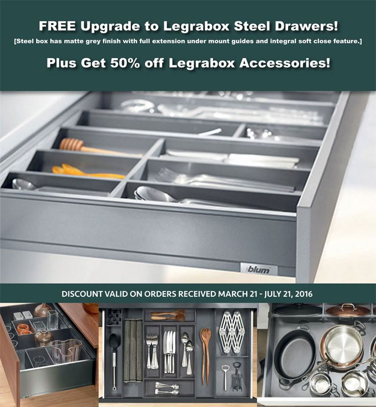 FREE Legrabox Drawer Upgrade And 50% Discount On Legrabox Accessories For  Your New Kitchen See