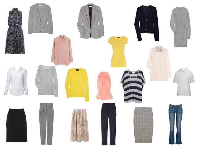 Which gives you the following collection of clothes, excluding outerwear: