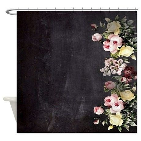 shabby chic flowers Shower Curtain on CafePress.com