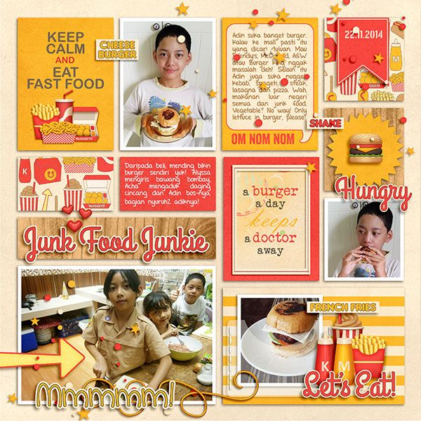 22.11.2014 Burger Story. Simply Block | Icing on the Cake by Little Green Frog Designs. Fast Food by Kristin Aagard.