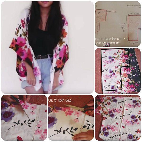 Come fare casacca modello kimono facile #tutorial #sewing #kimono