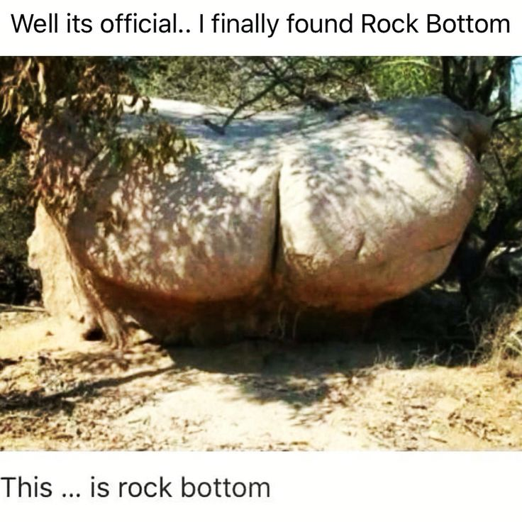 And you thought you found 'Rock Bottom' ...... some one beat you to it !! :) #happymonday