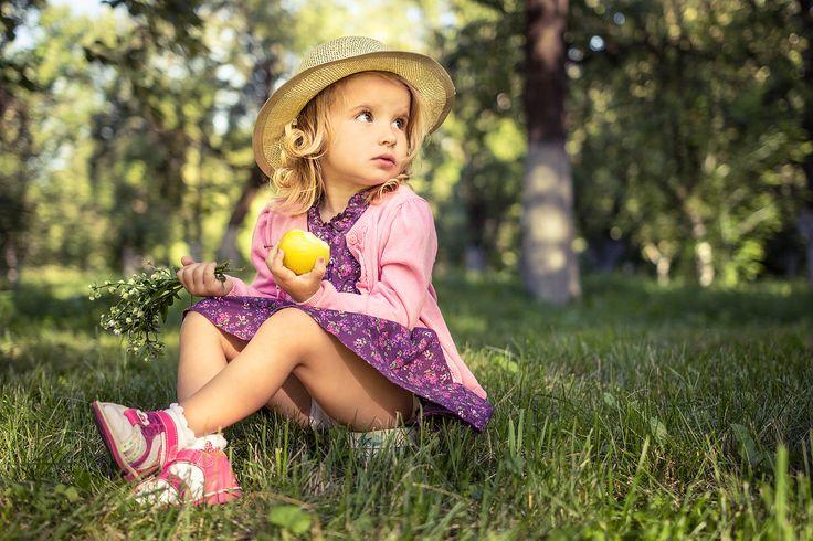 Красивые фото с детьми на природе