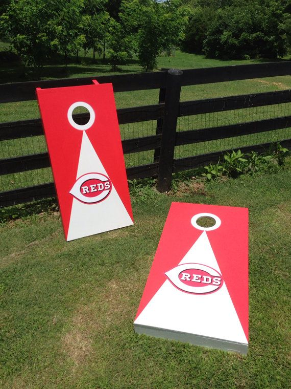 New Cincinnati Reds Cornhole Boards Bean Bag Toss Game
