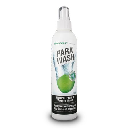 Para-Wash - Prevents the ingestion of harmful pesticides, herbicides as well as parasites by gently cleaning fruits and vegetables. Effective for cleansing utensils and cutting boards in addition to produce. Combination of grapefruit oil, distilled water and aerobic oxygenator in a proprietary formula for a thorough detoxifying effect.