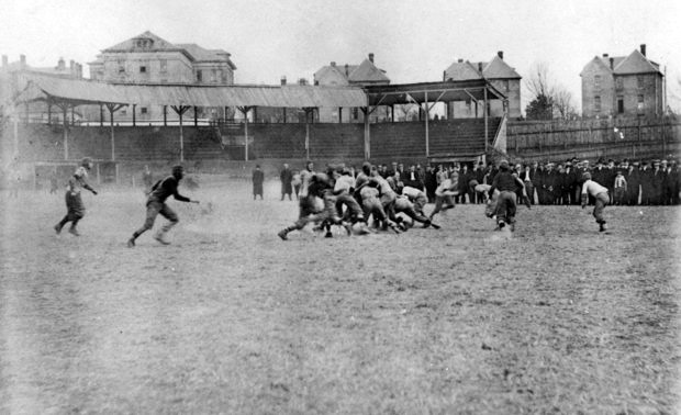 A Football Scrimmage At Ncsu Riddick Field About 1914