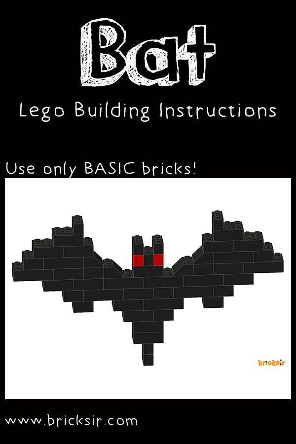 Bat Lego Instructions from Bricksir Halloween Set! Free app download