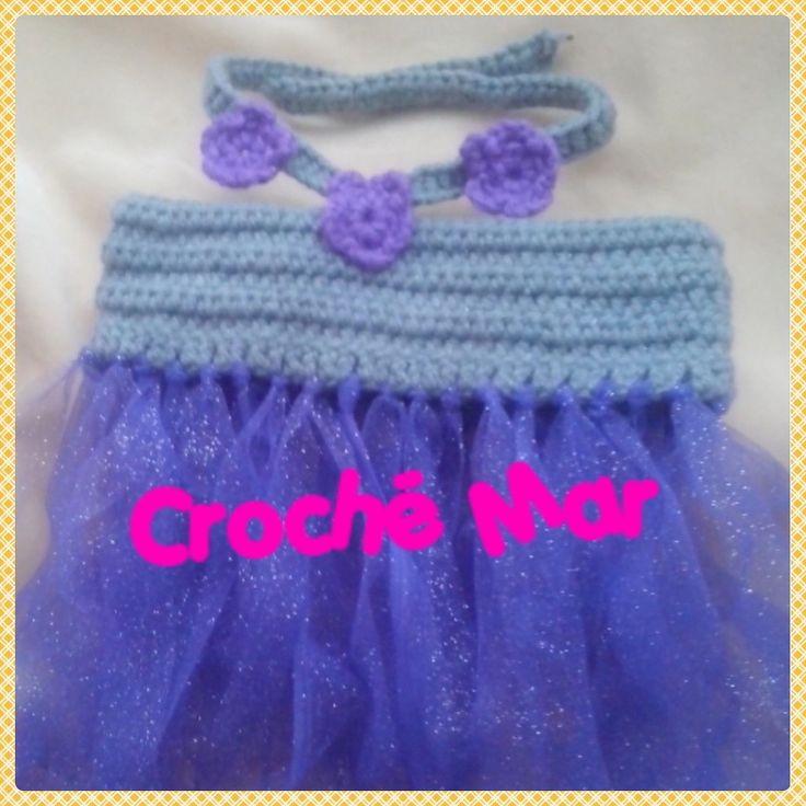 Vestido gris por Croche Mar