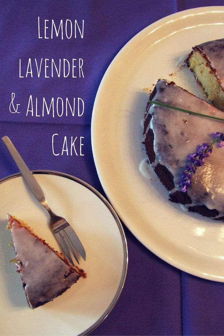Rich and moist, this sweetly fragrant almond cake is flavoured with lavender flowers and lemon. A wonderfully more-ish afternoon tea treat! #Pesach #Passover #glutenfree