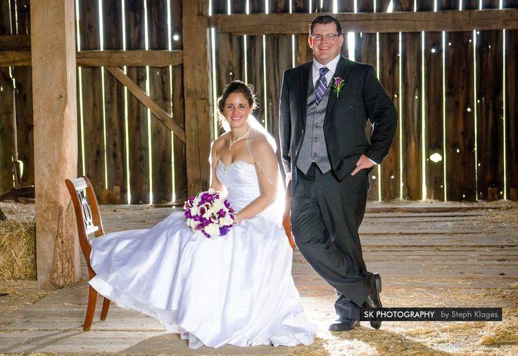 Love wedding photos taken in a barn!