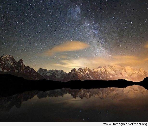 Via Lattea sopra le montagne immagini-divertenti.org