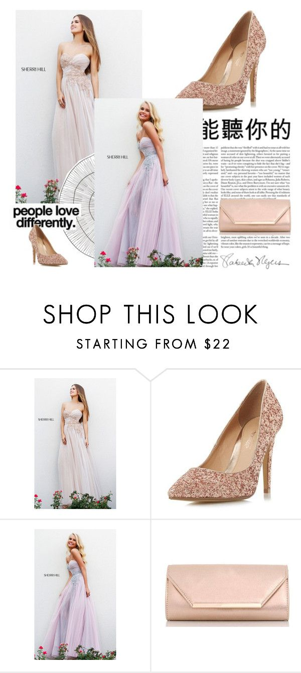 """""""Bez naslova #10"""" by mumi55 ❤ liked on Polyvore featuring Sherri Hill, Head Over Heels by Dune, Dorothy Perkins, Cyan Design, Kenzie and homecomingqueendress"""