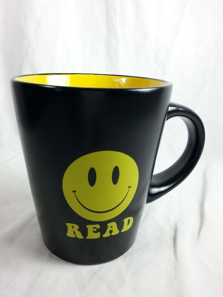 Happy Smiley Face READ Coffee Cup Tea Mug Size 12 oz Holiday Teacher Gift #Unknown