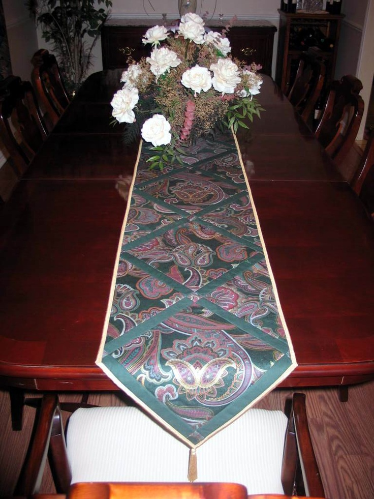 Top 25 ideas about 0 made by me quilt tablerunners napkins placemats on pinterest - Dining room table mats ...