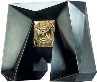 Czech cubist Clock by Josef Gocar, c. 1913
