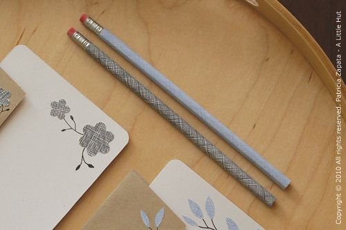 pencils covered with security envelope paper