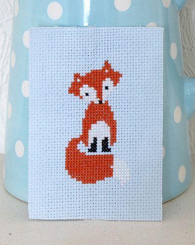 nice and easy fox cross stitch