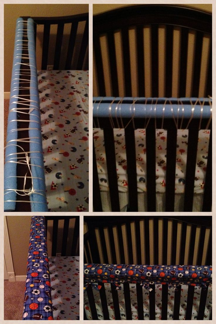DIY teething crib protector