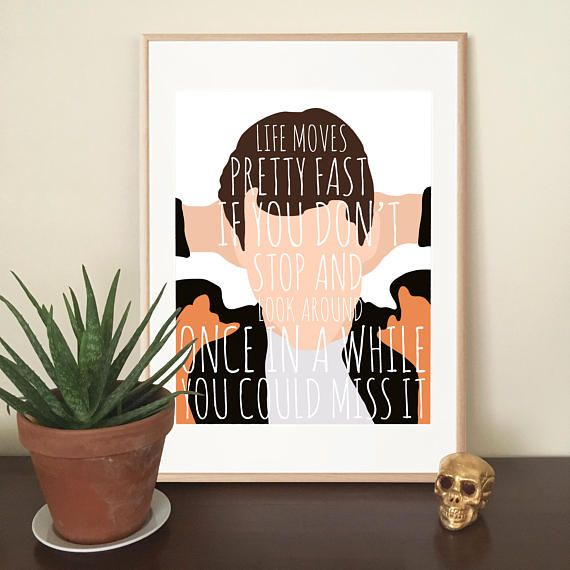 Ferris Bueller • 80s Movie Print • John Hughes Print • Cool Art • Digital Art Print •Print • Movie print • Ferris Bueller's Day Off
