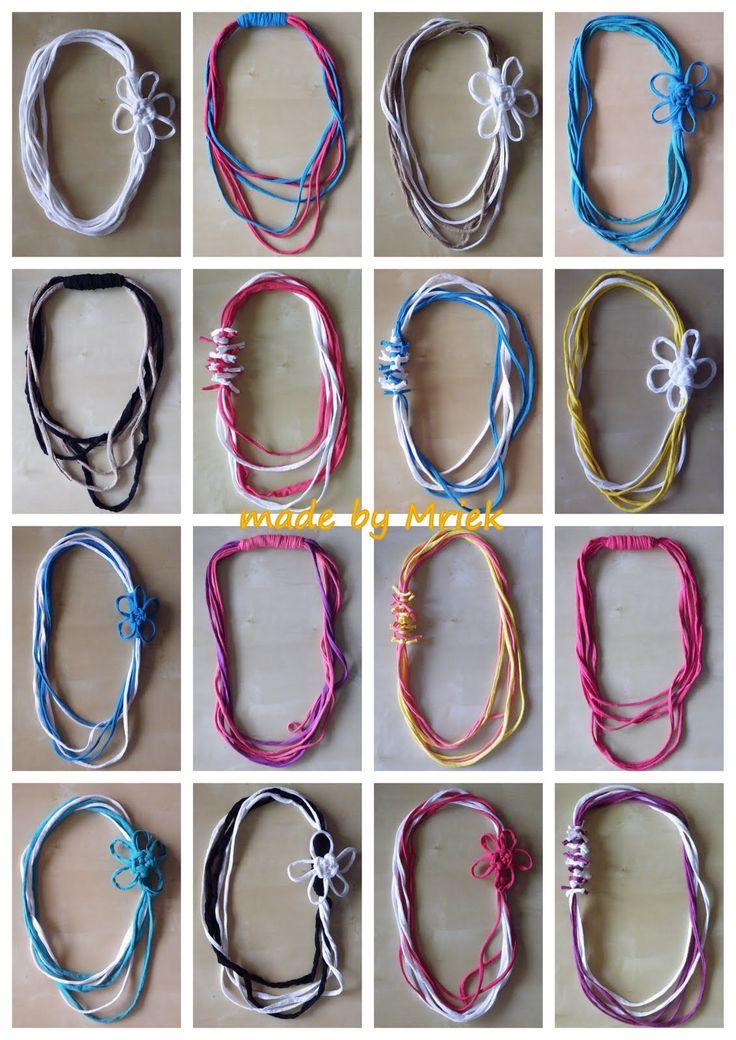 DIY: Sjaals, armbanden etc. van zpagetti (textielgaren)