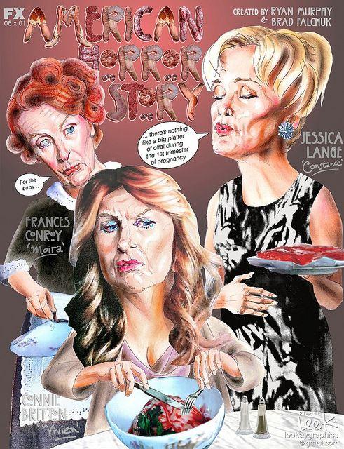 """American Horror Story """"Baby Food"""" episode 6    caricature, fan art"""