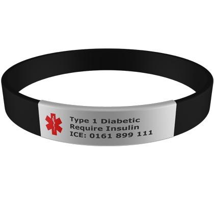 Medical Bracelet With Engraveable Tag Alert Braceletssilicone