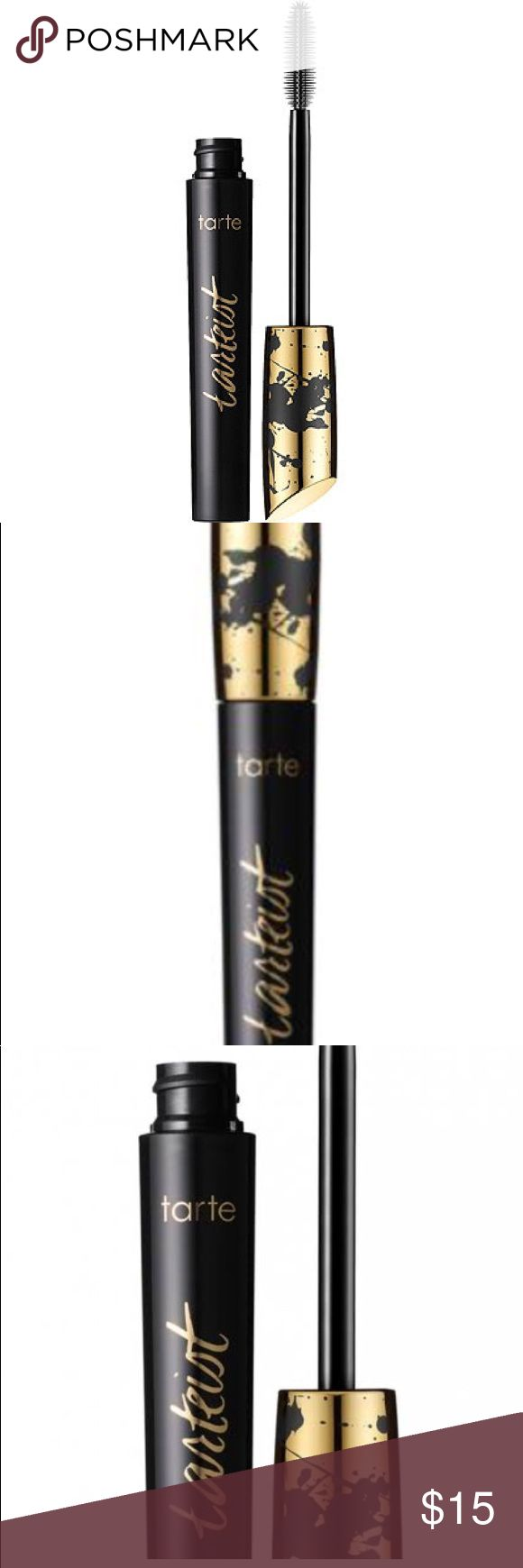 Tarte Tarteist Black Mascara Jet-black lengthening mascara for 2700% more lash volume.  Paint on dramatic lashes powered by good-for-you ingredients with this vegan Natural Artistry mascara. Infused with triple-black painted mineral pigments that strengthen and condition lashes while delivering bold black definition, you'll get flirty length and volume without any icky, bad ingredients. tarte Makeup Mascara