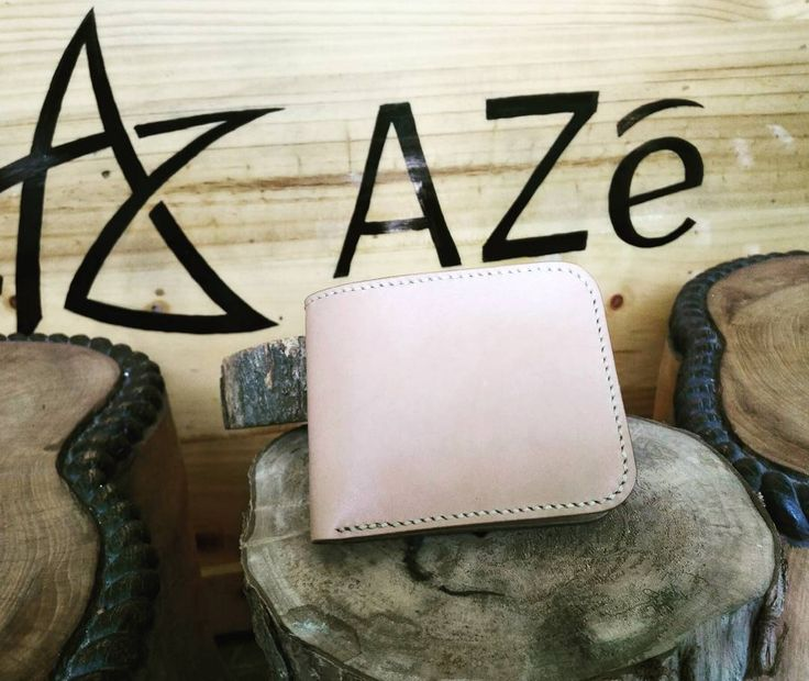 """21 Likes, 3 Comments - AZé Leatherworks (@azeleatherwork) on Instagram: """"""""NATURAL BIFOLD WALLET"""" ••• Material Descriptions : - Indonesian Vegetable Tanned Leather - Hand…"""""""