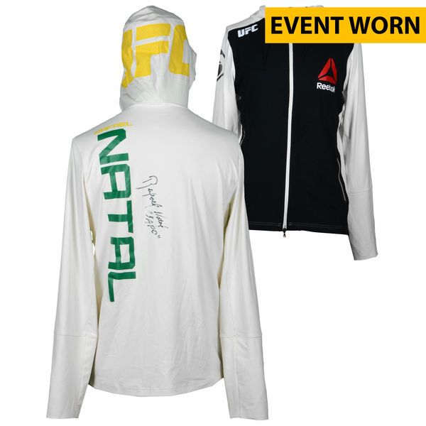 Rafael Natal Ultimate Fighting Championship Fanatics Authentic Autographed UFC on FOX: Johnson vs. Bader Event-Worn Walkout Hoodie - Defeated Kevin Casey via Third Round TKO - $299.99