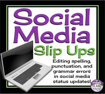 This resource allows students to edit grammar, spelling, and punctuation in a fun and modern way!  Students will have the chance to read social media status updates to find errors and correct them!=========================================================This Is Included In My Full Year Of Bell Ringers!