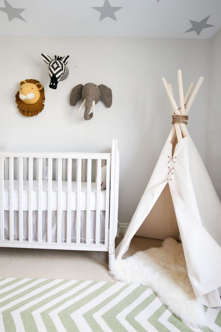 A Safari Themed Baby Boy Nursery Teyonah Grace White