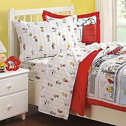 @Overstock - Wake up to Snoopy, Charlie Brown, Linus, Woodstock, Lucy and Sally with this unique bedding set. An all-over design of your favorite Peanuts characters adorns this twin-size cotton sheet set.http://www.overstock.com/Bedding-Bath/Peanuts-Comic-Cotton-132-Thread-Count-Twin-Sheet-Set/4814194/product.html?CID=214117 $17.99