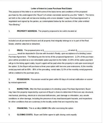 17 best Letter of Intent Template images on Pinterest A letter - real estate purchase agreement