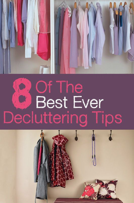 8 of the Best Ever Decluttering Tips | It's hard for some of us not to be hoarders! Paperwork piles up and mismatched mugs collect in the kitchen. But clearing that kind of clutter can be a cathartic experience